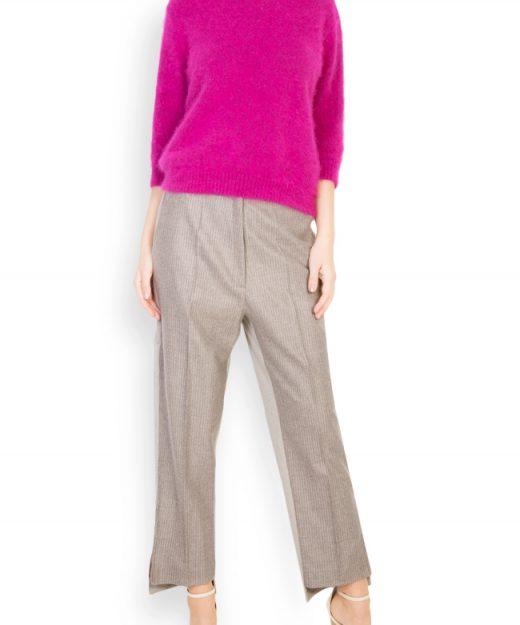 pantalon din lana cu talie inalta